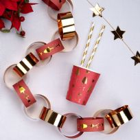 Dazzling Christmas Paper Chain (50)